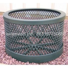 Round Expanded Metal Planter