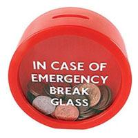 Suck UK Emergency Money Box, Piggy Bank, Coin Saver
