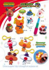 Christmas Stretchy ballpen & change purse key chain