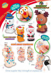 christmas eye pop out key chains & soft jelly key chain