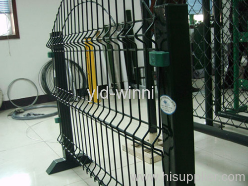 three bendings welded wire mesh fences