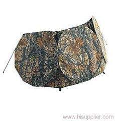camo hunting tent