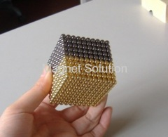 gold neodymium sphere cube 5mm