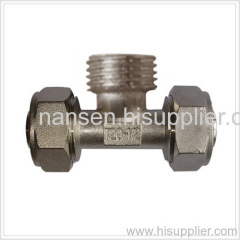 brass male tee adapter