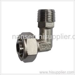 nickel plated long male elbow coupling