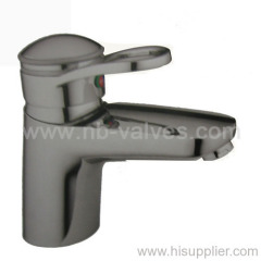 Brass single-lever basin mixer