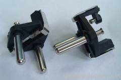 Turkey cable plug insert with two solid pins