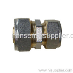 brass pipe fitting with nickel