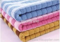 Microfiber weftknitting towel