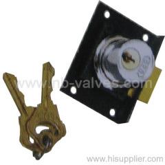 Black chrome drawer lock