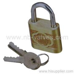 Stainless steel key barss padlock