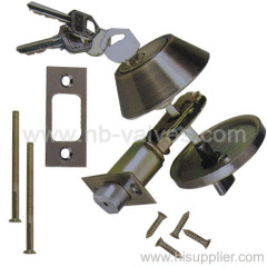 Brass key cylinder door lock