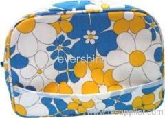 Flower pattern cosmetic bag