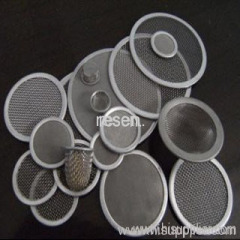 stainless steel mesh filter discs
