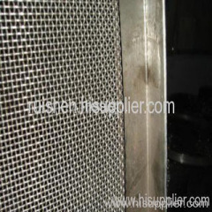 borda de aço adicionado malha frisada