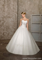 Newest Elegant Long Straless Wedding Dresses