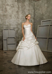 taffeta A-line wedding gown