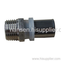 brass male coupling with nickel