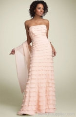 pink chiffon evening dresses