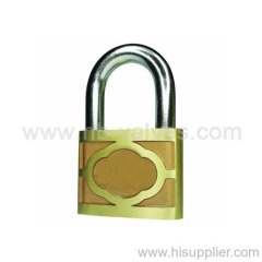 Stainless steel hot pressing brass padlock