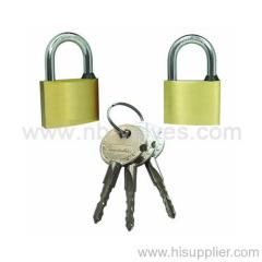 Solid brass body padlock