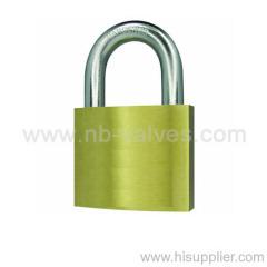 Thin type brass padlock with brass key