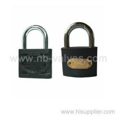 Black prime lacquered iron padlock