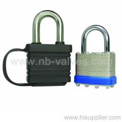 Stainless steel laminated padlock