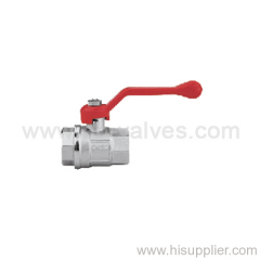 Zinc coating brass ball valve with red aluminium handle