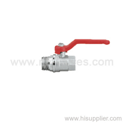 Wraped type red steel handle brass ball valve