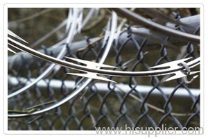 Razor barbed wire fence