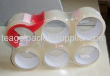 6PCS / Shrink OPP cinta + dispensador de cinta