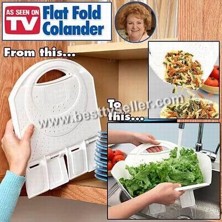 flat folding colander