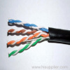 cat5e UTP lan cable,outdoor 24AWG 4 pair PE jacket cables
