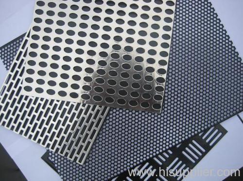 perforated metal piece