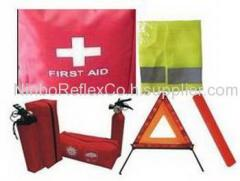 fire extinguisher, first aid kit