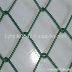 Galvanized chain link wire fence