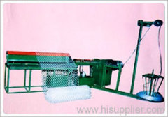 Semiautomatic diamond mesh machine