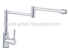 Brass Material Kitchen Mixer With Long Spout