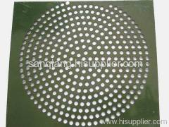low carbon steel perforated metal mesh