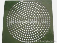 low carbon steel perforated metal mesh