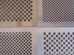 perforated metal mesh piece