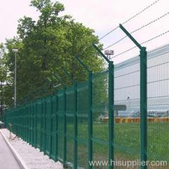 three bendings pvc coated welded wire mesh fences