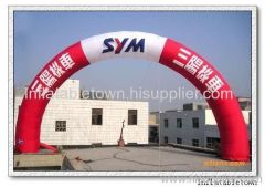 Inflatable advertising archway