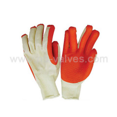 Red natural latex glove