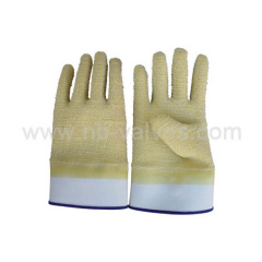 Natural non-slip latex glove