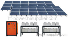 Off grid solar power generator