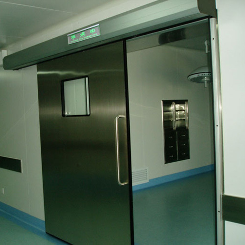 stainless steel automatic sliding hermetic doors for operation rooms