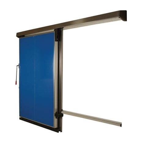middle type sliding freezer doors with coated steel door leaf