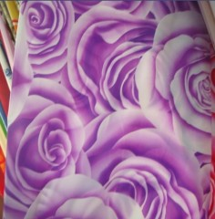 brushed printed fabric